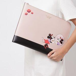Kate Spade Minnie Mouse Beige Black Laptop Sleeve